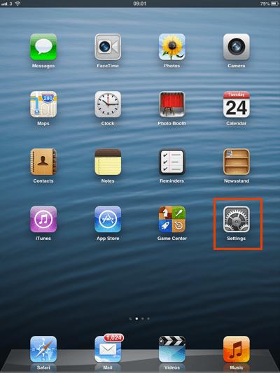 iOS device configuration